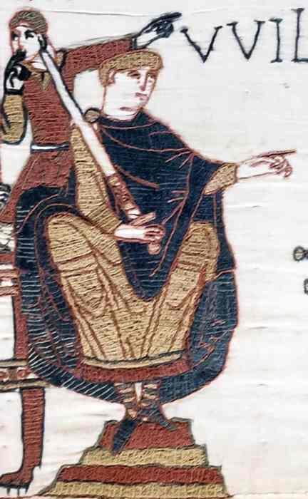 Tapisserie de Bayeux - Scène 23 : Harold prête serment à Guillaume