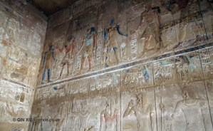 Colourful hieroglyph, Karnak Temple, Luxor