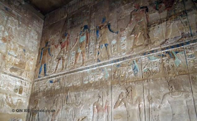 Colourful hieroglyph, Karnak Temple, Luxor