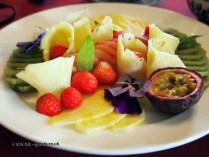 Fruit platter at Balfour Castle