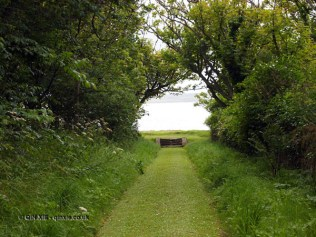 Grass pass to sea at Balfour Castle