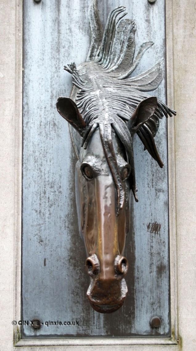Horse statue, Bruges, Belgium