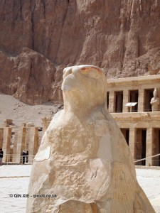 Horus statue, Mortuary Temple of Hatshepsut, Luxor