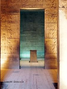 Inner sanctum, Philae Temple, Lake Nasser