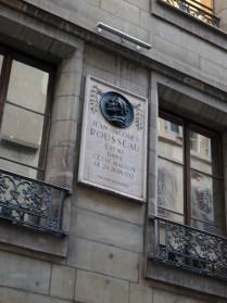 Jean Jacques Rousseau plaque, Geneva