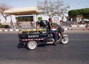 Motor truck on High Dam at Aswan