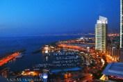 Night view, Beirut, Lebanon