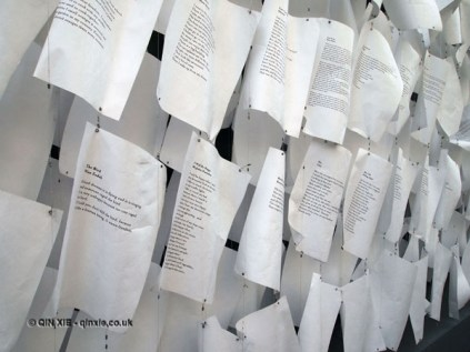 Paper installation at Vintage Festival, Southbank