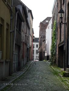 Patershol streets, Ghent, Belgium
