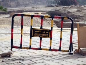 Traffic sign, Karnak Temple, Luxor