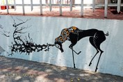 Stag graffiti, Santiago, Chile