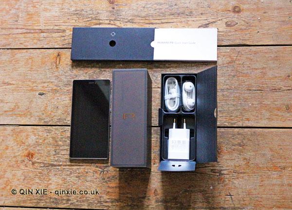 Huawei P8 phone and box
