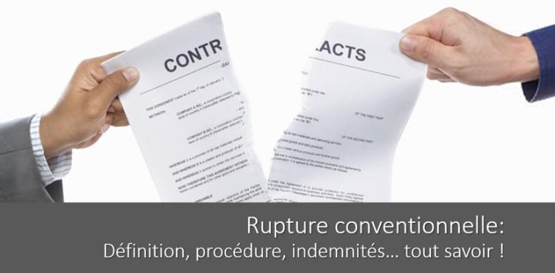 Rupture Conventionnelle Procedure Indemnites Tout Savoir