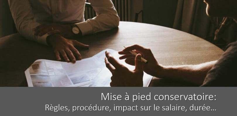 Mise A Pied Conservatoire Regles Procedures Salaire