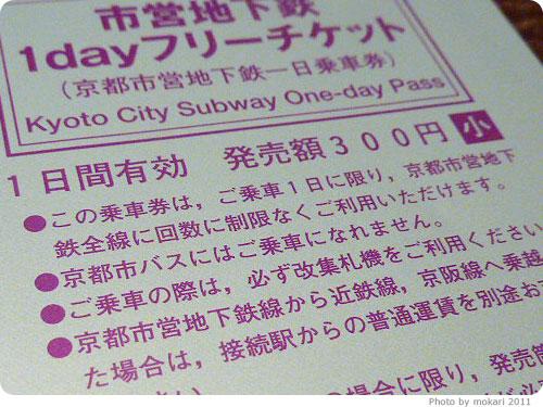 20110506-5 京都市営地下鉄1Dayチケットで京都のお出かけ