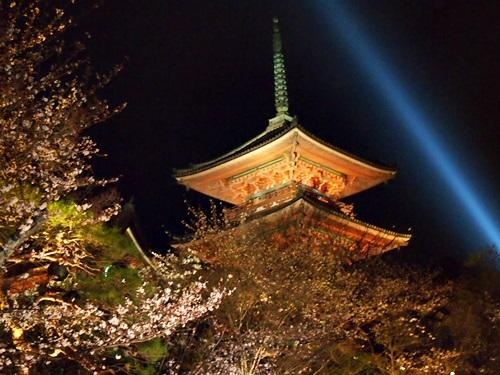 P3294736 清水寺の夜の特別拝観に行きました(2013年3月)