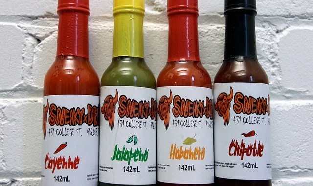 Sneaky Dee's hot sauce