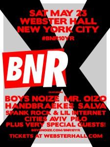 #BNR10YR tour poster