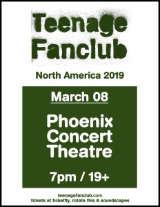 Teenage Fanclub @ The Phoenix Concert Theatre