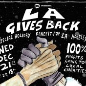IHEARTCOMIX LA GIVES BACK flyer