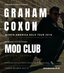 Graham Coxon @ Mod Club Theatre