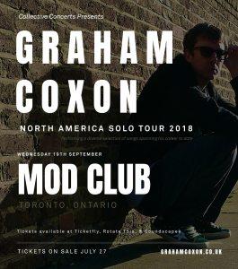 Graham Coxon @ Mod Club Theatre