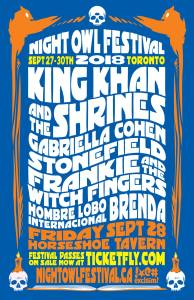 King Khan and The Shrines, Gabriella Cohen & more @ The Horseshoe Tavern