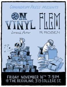 Lorenz Peter 'On Vinyl' + Rebecca Rosen 'Flem' Double Launch @ The Beguiling Books & Art