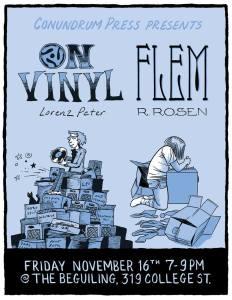 Lorenz Peter 'On Vinyl' + Rebecca Rosen 'Flem' Double Launch @ The Beguiling Books & Art
