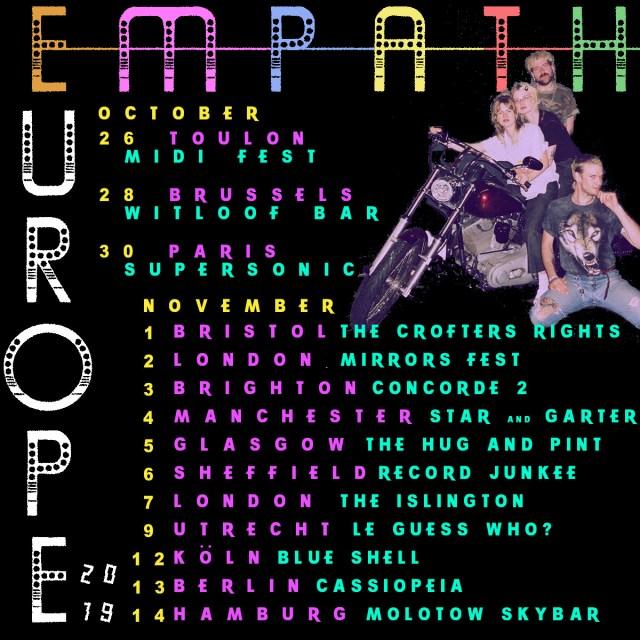 Empath European tour dates poster