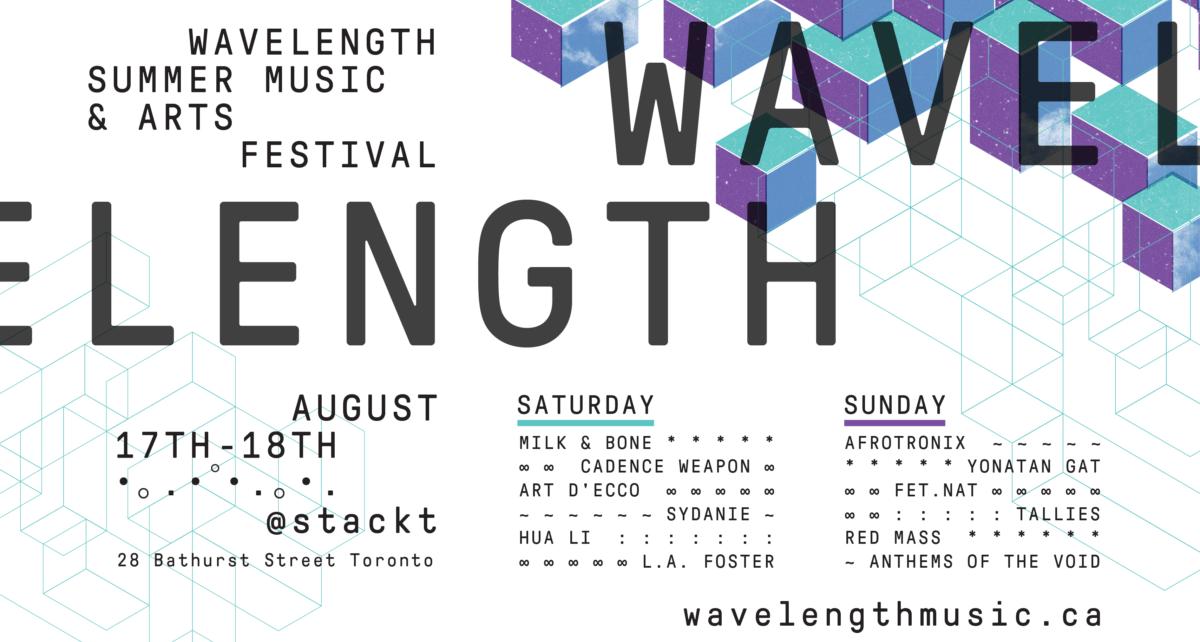 Wavelength Summer Music & Arts Festival flyer