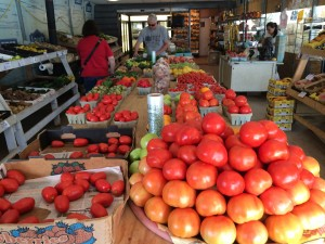 Tomato variety at roadside stand