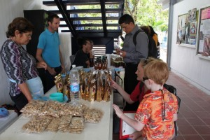 Talking to vendors at the tianguis