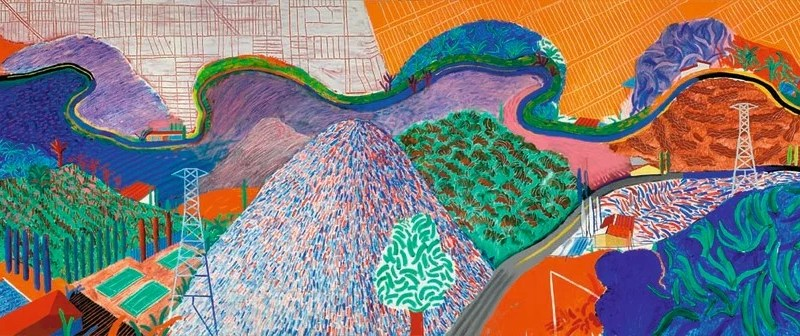 David Hockney, Mulholland Drive : The road to the studio