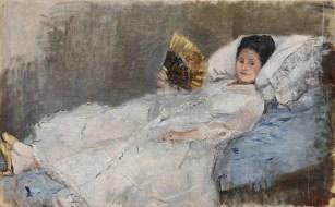 Berthe Morisot, Femme à l'éventail