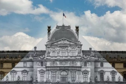 JR, anamorphose Pyramide du Louvre, juin 2016