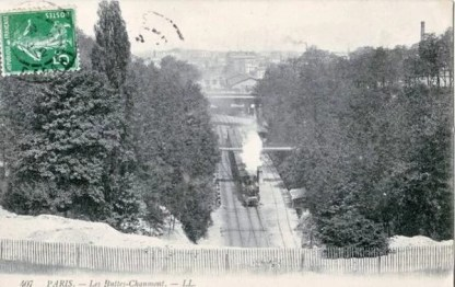 Dans le parc des Buttes-Chaumont, en 1912