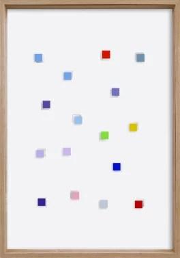 CHRISTIAN MEGERT / S.T., 2005, mirror, acrylic, cardboard under glass, 100 x 70 x 6 cm