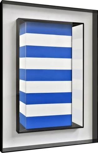 CHRISTIAN MEGERT / S.T., 2017, wood, mirror, acrylic, under plexi, 141 x 101 x 12 cm