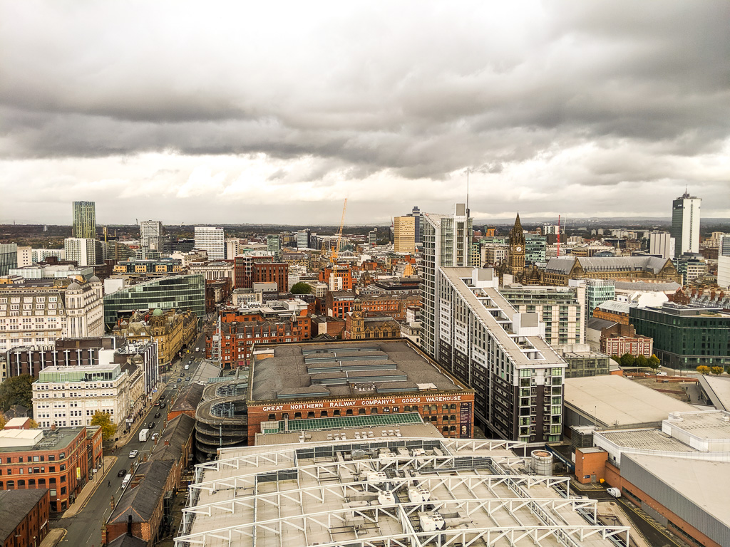 one day in manchester - birdseye view