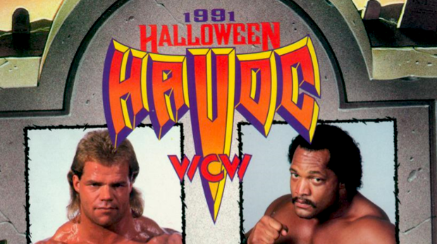 Image result for wcw halloween havoc 1991 wwe.com Ron Simmons vs Lex Luger