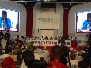 Lay out and High table at the APC National Summit.