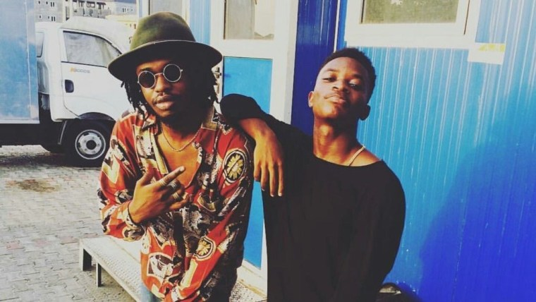 Jinmi Abduls and Boj on set the Pose Remix videoshoot.