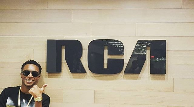 AyoJay at RCA Records Offices