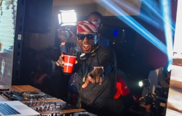 smirnoff brand ambassador, dj spinall at the launch of the smirnoff x1 and his album launch party