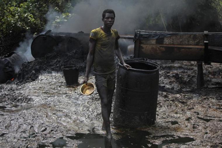 Illegal Oil Refinery in Nigeria