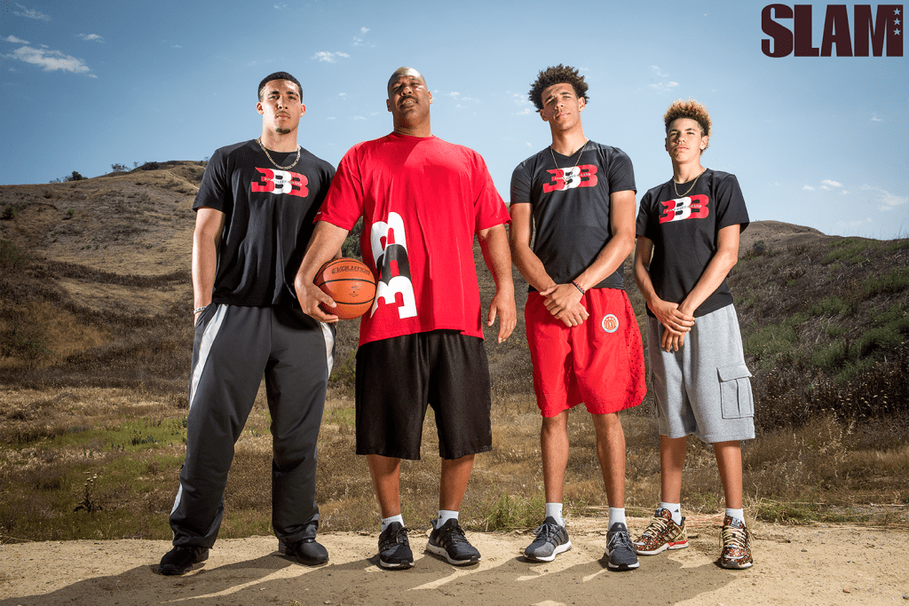 LiAngelo Ball, Lavar Ball, Lonzo Ball and Lamelo Ball
