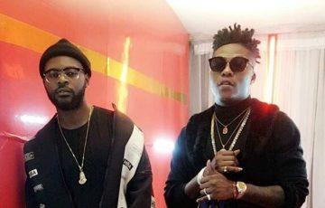 Reekado Banks and Falz on set the video for Biggy Man