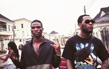 burna boy and yonda in Las Vegas Remix video shoot