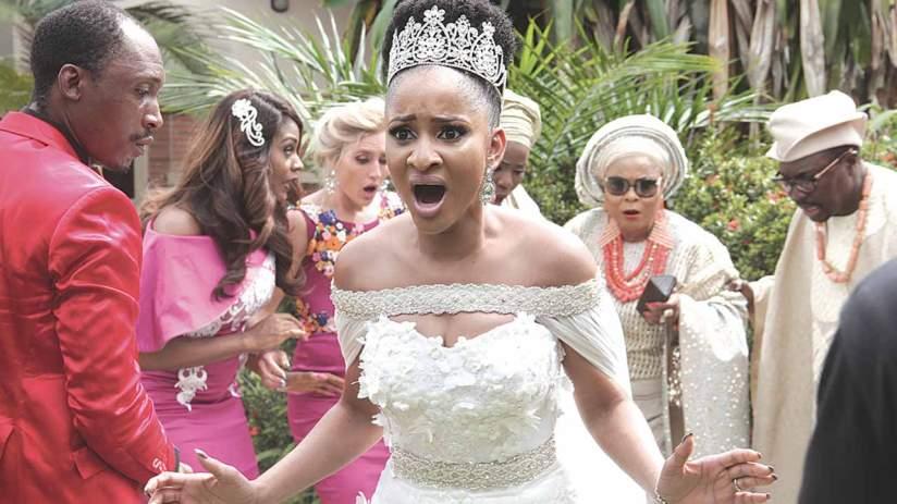 Adesua Etomi in the Wedding Party